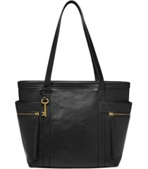 fossil caitlyn leather tote