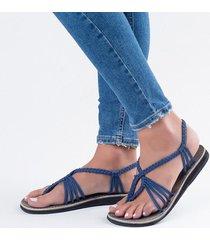 sandalias de tiras de mujer de talla grande estilo bohemio de verano
