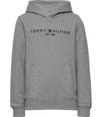 essential hoodie hoodie trui grijs tommy hilfiger