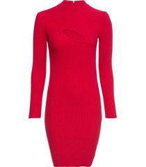 abito in maglia a coste con cut-out (rosso) - bodyflirt boutique