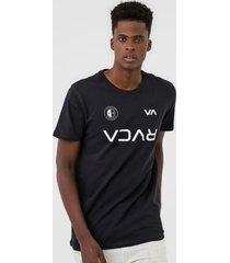 camiseta rvca club preta - preto - masculino - dafiti