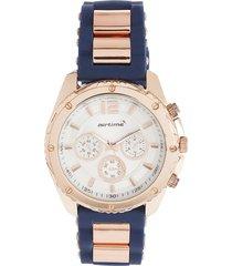 reloj azul navy-oro rosa virox airtime
