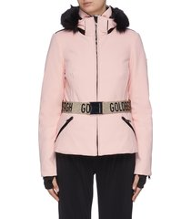 """hida' belted puff performance down jacket"