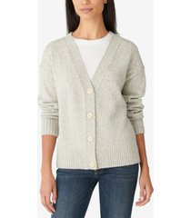lucky brand button-front shine cardigan