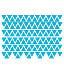 adesivo de parede triângulos azul celeste 121un