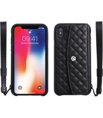 cobble pro quilted genuine leather wallet case for apple iphone x, xs