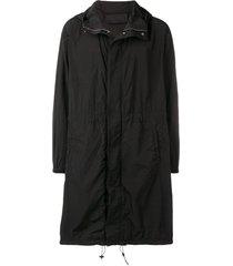 1017 alyx 9sm hooded rain jacket - black