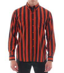 65950-0009 levi's vintage 1960s button down shirt - red/black