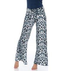 white mark cheetah printed palazzo pants