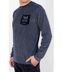 pyjama's / nachthemden admas for men denk aan een positieve marineblauwe fluwelen pyjamabroek adma's
