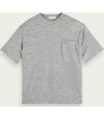 scotch & soda jersey t-shirt met ronde hals