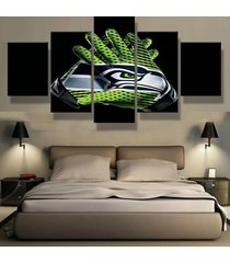 seattle seahawks glove   5 piece canvas wall art painting print home decor