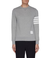 stripe sleeve crewneck sweatshirt