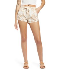 women's billabong road trippin floral twill shorts, size large - brown