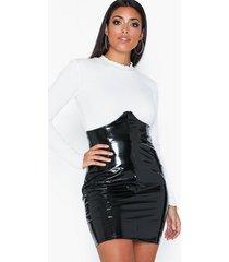 nly one high sharp skirt minikjolar