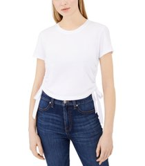 calvin klein jeans cotton ruched side-tie t-shirt