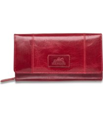 mancini casablanca collection rfid secure ladies clutch wallet
