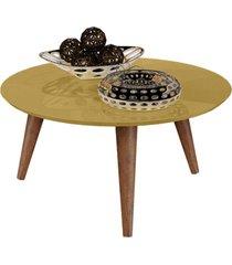mesa centro retrô cissa - dourado - compre aqui