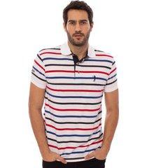 camisa polo aleatory listrada campaign masculina