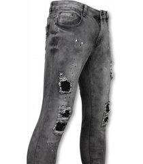 urban rags exclusieve biker jeans grijs