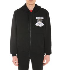 moschino sweatshirt with zip