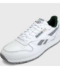tenis lifestyle blanco-verde-gris reebok classic leather