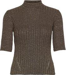 glitter knit t-shirts & tops knitted t-shirts/tops brun ganni