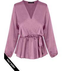 satijnen overslag blouse dust