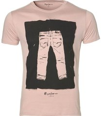 pepe jeans t-shirt - slim fit - roze