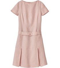 linnen jurk, mauv 38