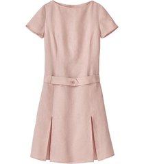 linnen jurk, mauv 44