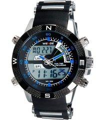 relógio weide anadigi esporte wh-1104 azul