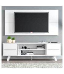 rack madesa copenhagen e painel para tv até 55 polegadas