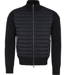 moncler cardigan with padded frontal panel