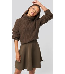 karo kauer x na-kd circle mini skirt - brown