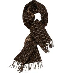 burberry tb motif jacquard cashmere scarf