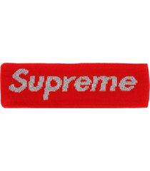 supreme x new era reflective logo headband - red