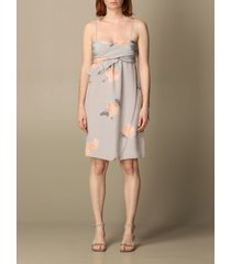 emporio armani dress emporio armani dress in patterned silk