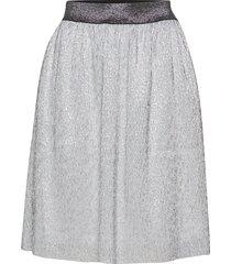 siena skirt knälång kjol silver kaffe