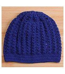 cotton hat, 'royal pattern' (peru)