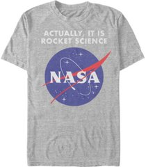 nasa men's it is rocket science short sleeve t-shirt