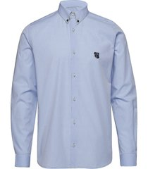 regular shirt with embroidered logo overhemd business blauw tonsure