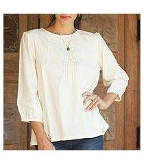 cotton blouse, 'cream thai style' (thailand)