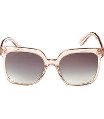 bcbgmaxazria women's 55mm gradient square sunglasses - black
