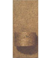 placa em fibra de côco 15x32cm natural com 1 vaso