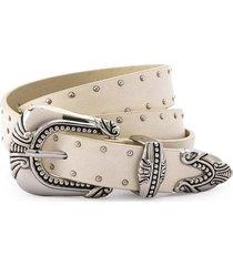 cinturón blanco   amphora porcelain