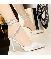 sandalias de tacón grueso para mujeres punta sandalias