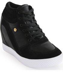zapato casual de moda color negro 522ds05negro mujer