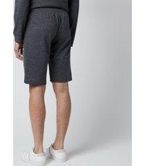 polo ralph lauren men's loopback jersey slim shorts - charcoal heather - xl