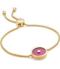 gold atlantis evil eye friendship chain bracelet pink quartz